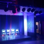 LIP Stage with blue and red lighting
